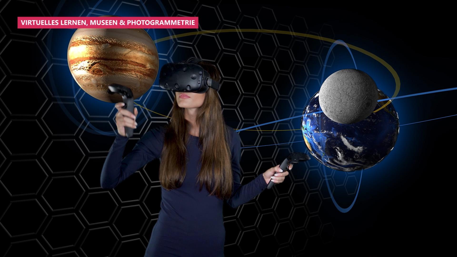 virtuelles Lernen Universum 360stereo3d